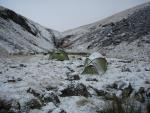 looking over the tents up Sticks Gill